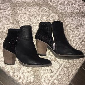 Black Sparkle Booties